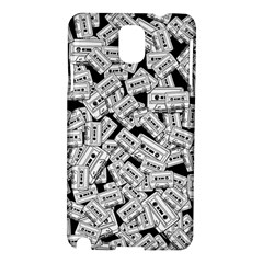 Audio Tape Pattern Samsung Galaxy Note 3 N9005 Hardshell Case by Valentinaart