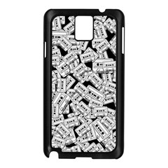 Audio Tape Pattern Samsung Galaxy Note 3 N9005 Case (black) by Valentinaart