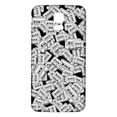 Audio Tape Pattern Samsung Galaxy S5 Back Case (white) by Valentinaart