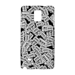 Audio Tape Pattern Samsung Galaxy Note 4 Hardshell Case by Valentinaart
