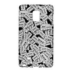 Audio Tape Pattern Samsung Galaxy Note Edge Hardshell Case by Valentinaart