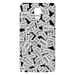 Audio Tape Pattern Samsung Note 4 Hardshell Back Case by Valentinaart