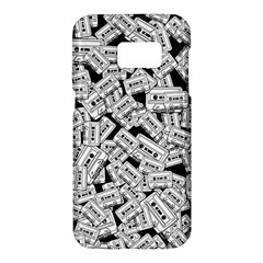 Audio Tape Pattern Samsung Galaxy S7 Hardshell Case  by Valentinaart
