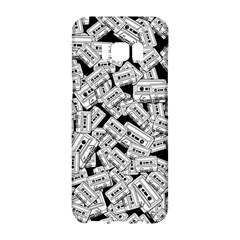 Audio Tape Pattern Samsung Galaxy S8 Hardshell Case  by Valentinaart
