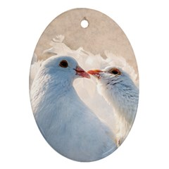 Doves In Love Ornament (oval) by FunnyCow