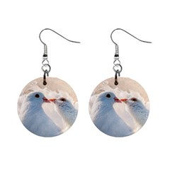 Doves In Love Mini Button Earrings by FunnyCow