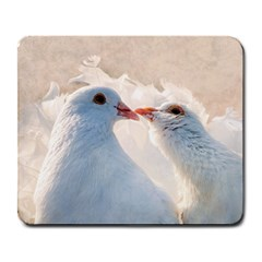 Doves In Love Large Mousepads by FunnyCow