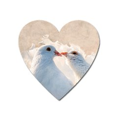Doves In Love Heart Magnet by FunnyCow