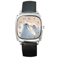 Doves In Love Square Metal Watch by FunnyCow