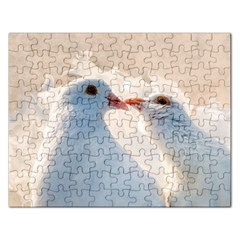 Doves In Love Rectangular Jigsaw Puzzl by FunnyCow