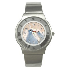 Doves In Love Stainless Steel Watch by FunnyCow