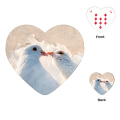 Doves In Love Playing Cards (heart)  by FunnyCow