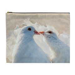 Doves In Love Cosmetic Bag (xl) by FunnyCow