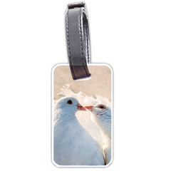 Doves In Love Luggage Tags (one Side)  by FunnyCow