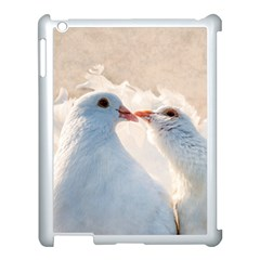 Doves In Love Apple Ipad 3/4 Case (white) by FunnyCow