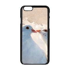 Doves In Love Apple Iphone 6/6s Black Enamel Case by FunnyCow