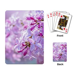 Pink Lilac Flowers Playing Card by FunnyCow