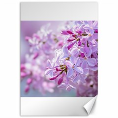 Pink Lilac Flowers Canvas 12  X 18   by FunnyCow