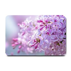 Pink Lilac Flowers Small Doormat  by FunnyCow