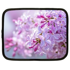 Pink Lilac Flowers Netbook Case (xl)  by FunnyCow