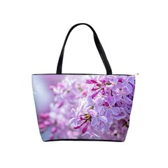 Pink Lilac Flowers Shoulder Handbags by FunnyCow