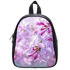 Pink Lilac Flowers School Bag (small) by FunnyCow
