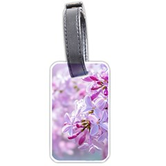 Pink Lilac Flowers Luggage Tags (one Side)  by FunnyCow