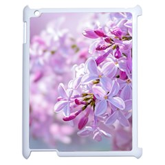 Pink Lilac Flowers Apple Ipad 2 Case (white) by FunnyCow