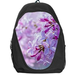 Pink Lilac Flowers Backpack Bag by FunnyCow