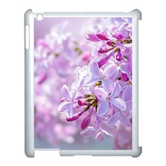 Pink Lilac Flowers Apple Ipad 3/4 Case (white) by FunnyCow