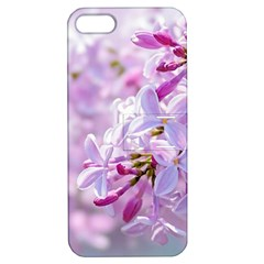 Pink Lilac Flowers Apple Iphone 5 Hardshell Case With Stand by FunnyCow