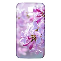 Pink Lilac Flowers Samsung Galaxy S5 Back Case (white) by FunnyCow