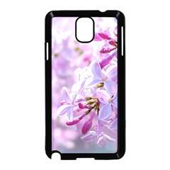 Pink Lilac Flowers Samsung Galaxy Note 3 Neo Hardshell Case (black) by FunnyCow