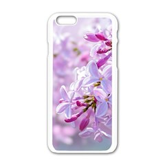 Pink Lilac Flowers Apple Iphone 6/6s White Enamel Case by FunnyCow