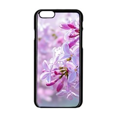 Pink Lilac Flowers Apple Iphone 6/6s Black Enamel Case by FunnyCow