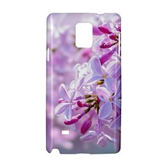 Pink Lilac Flowers Samsung Galaxy Note 4 Hardshell Case by FunnyCow