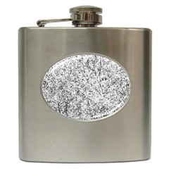 Willow Foliage Abstract Hip Flask (6 Oz) by FunnyCow