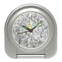 Willow Foliage Abstract Travel Alarm Clocks by FunnyCow