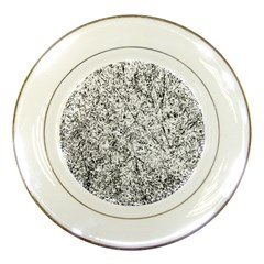 Willow Foliage Abstract Porcelain Plates by FunnyCow