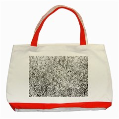 Willow Foliage Abstract Classic Tote Bag (red) by FunnyCow
