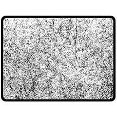 Willow Foliage Abstract Double Sided Fleece Blanket (large)  by FunnyCow