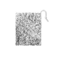 Willow Foliage Abstract Drawstring Pouches (small)  by FunnyCow