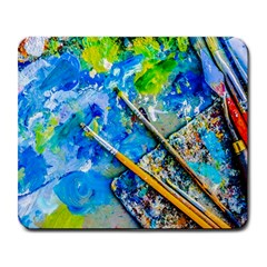 Artist Palette And Brushes Large Mousepads by FunnyCow