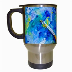 Artist Palette And Brushes Travel Mugs (white) by FunnyCow