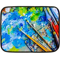 Artist Palette And Brushes Fleece Blanket (mini) by FunnyCow