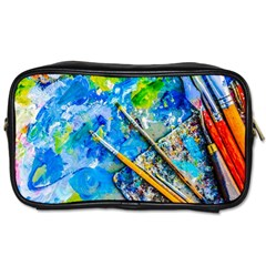 Artist Palette And Brushes Toiletries Bags by FunnyCow