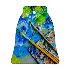 Artist Palette And Brushes Ornament (bell)