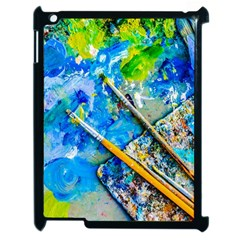 Artist Palette And Brushes Apple Ipad 2 Case (black) by FunnyCow