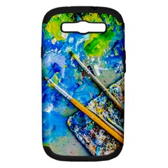 Artist Palette And Brushes Samsung Galaxy S Iii Hardshell Case (pc+silicone) by FunnyCow