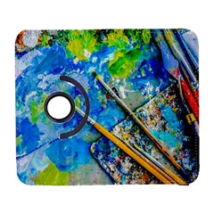 Artist Palette And Brushes Samsung Galaxy S  Iii Flip 360 Case by FunnyCow